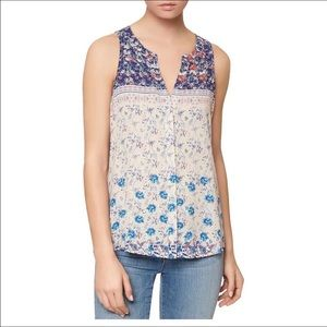 Sanctuary red/navy/white floral tank NWT size XL